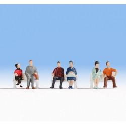 NOCH 18130, Osoby siedzące, zestaw figurek, skala H0