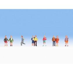 NOCH 36809, Dzieci, zestaw figurek, skala N (1:160).