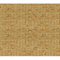 """NOCH 56613, Cegła klinkierowa żółta, Dekor, karton """"3D"""" strukturalny, wytłaczany, skala H0."""