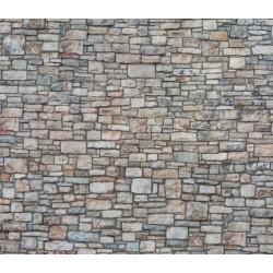 """NOCH 56640, Mur kamienny, Dekor, karton """"3D"""" strukturalny, wytłaczany, skala H0."""