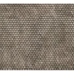 "NOCH 56691, Dach, dachówka ""ogon bobra"". Dekor, karton ""3D"" strukturalny, wytłaczany, skala H0."