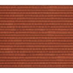 """NOCH 56670, Dach, dachówka. Dekor, karton """"3D"""" strukturalny, wytłaczany, skala H0."""