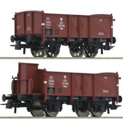 ROCO 76069, Zestaw: dwa wagony węglarki (Wdo, Wdoh) PKP, ep.III, skala H0.
