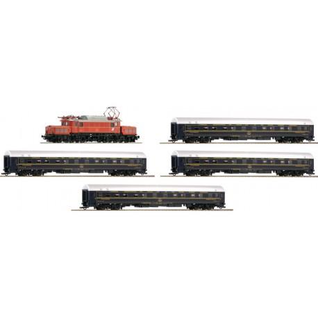 ROCO 61469, Skład pociągu ÖBB CIWL: elektrowóz Rh1020 + 4 wagony sypialne, ep.IV, DCC SOUND, skala H0.