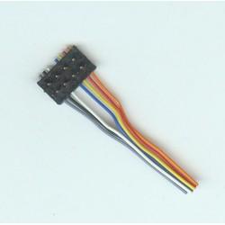 ROCO 180644-7, Wtyk dekodera 8-PIN, z wyprowadzonymi przewodami.