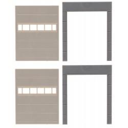 "Faller 180881, Dwie ściany z bramami (""Goldbeck"" system), skala H0."