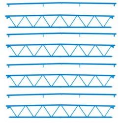 "Faller 180885, Cztery dźwigary dachowe (""Goldbeck"" system), skala H0."