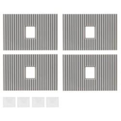 """Faller 180888, Cztery pokrycia dachowe ze świetlikami (""""Goldbeck"""" system), skala H0."""