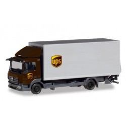 """Herpa 310208, Mercedes-Benz Atego box truck with liftgate """"UPS"""", skala H0."""
