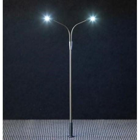 Faller 180201, Latarnia uliczna podwójna 100 mm, LED, 12-14 V.