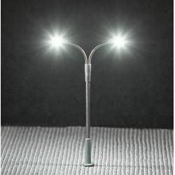Faller 272221, Latarnia uliczna podwójna 65 mm, skala N (1:160), LED, 12-14 V.
