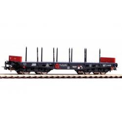 PIKO 58417, Wagon platforma z kłonicami, 401Ze Rmmps (PPzk) PKP, ep.IV, skala H0.