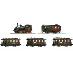 Roco 61475, Zestaw: Parowóz T3 + 4 wagony składu pasażerskiego K.P.E.V., ep.I, skala H0.