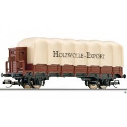 Tillig 14649, Wagon towarowy plandekowy z budką hamulcową, skala TT.