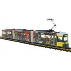 """Rietze STRA01006, Tramwaj Adtranz GT6 BVG Berlin """"Bergwerk Berlin"""", bez napędu, skala H0."""