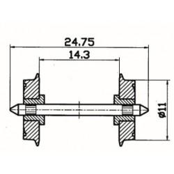 ROCO 40199, Koła pełne 11 mm H0