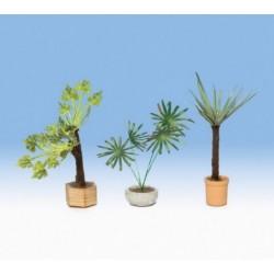 NOCH 14016, Rośliny ozdobne w donicach, 3 szt. Skala H0.
