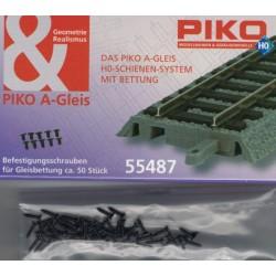 PIKO 55487, Wkręty do mocowania podłoża do torów A-Gleis, skala H0, ~50 sztuk.