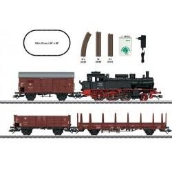 TRIX 21532, Zestaw startowy: pociąg towarowy. Parowóz BR74 + 3 x wagon. Skala H0.