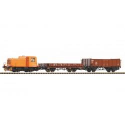 PIKO 59022, Cyfrowy zestaw startowy SmartControl light: skład towarowy TGK2 + 2 wagony, DR, skala H0.