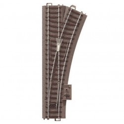 TRIX 62612, Rozjazd prawy 188,3 mm, 24,3°, R 437,5 mm (R2), skala H0.