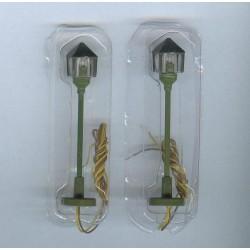 MTC22, Zestaw: dwie latarnie parkowe ~48mm, 12V, skala H0.