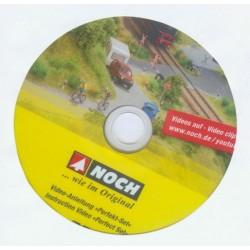 NOCH 71923, Płyta DVD z filmikami instruktażowymi n/t budowy makiet, dioram. J.niemiecki/angielski.