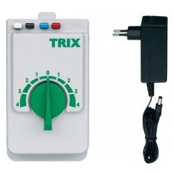 """TRIX 66508, Zasilacz """"kolejkowy"""" z regulatorem prędkości. 230 V / 18 VA."""