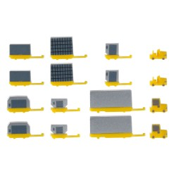 HERPA 520638, Airport accessories: container trailers, 1:500