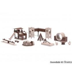 Vollmer 43668, Plac zabaw, elementy wyposażenia, skala H0.