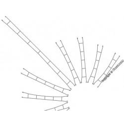 Viessmann 4340, Przewody sieci trakcyjnej, komplet, 5 sztuk x 135,5 mm, Ø 0,4 mm, skala N.