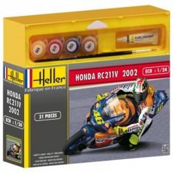 Heller 50923, Honda RC211V 2002, skala 1:24, zestaw z klejem, pędzelkiem i i farbami.