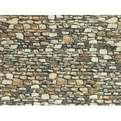 NOCH 57520, Mur z dolomitu, dekor kartonowy strukturalny, wytłaczany, 32 x 15 cm, skala H0 / TT.