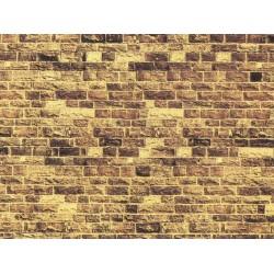 NOCH 57570, Mur z piaskowca, dekor kartonowy strukturalny, wytłaczany, 32 x 15 cm, skala H0 / TT.