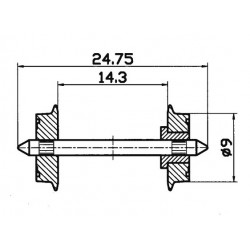 Roco 40194, Koła pełne Ø 9 mm, skala H0.