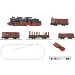 ROCO 51318, Cyfrowy zestaw startowy z21® start, parowóz 052 DB + wagony, skala H0.