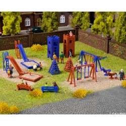 Vollmer 43665, Plac zabaw, wyposażenie, skala H0.