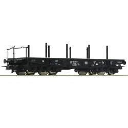 Roco 46380, Wagon platforma Rlmmp, płaska z kłonicami, DB, ep.IV, skala H0.
