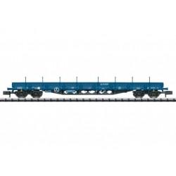 TRIX / MINITRIX 15487, Wagon platforma Res z kłonicami, PKP Cargo, ep.VI, skala N.