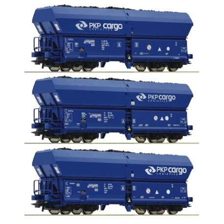 Roco 76046, Zestaw: 3 x wagon Falns, PKP Cargo, ep.VI, skala H0.