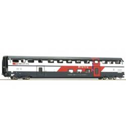 "Roco 74504, Wagon piętrowy, typ BR ""Bistro"", ""IC 2000"" SBB ep.VI, skala H0."