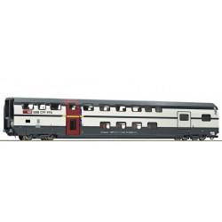 """Roco 74501, Wagon piętrowy, typ AD """"IC 2000"""" kl.1 z przedziałem bagażowym, SBB ep.VI, skala H0."""