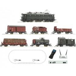ROCO 51323, Cyfrowy zestaw startowy z21® + SOUND, pociąg towarowy E52 DRG, skala H0.
