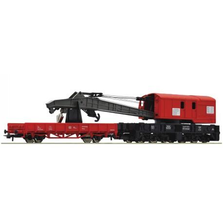 Roco 56240, Zestaw dźwigu kolejowego, DB, H0