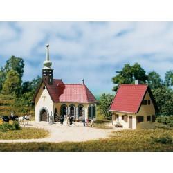 Auhagen 14461, Kościół z plebanią, skala N.
