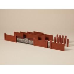 Auhagen 41622, Mury fabryczne z bramą, skala H0.
