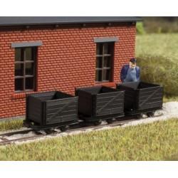 Auhagen 41706, Trzy wagony skrzyniowe do zest. 41700