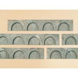 Auhagen 43628, Arkady - mur oporowy x 6, TT/N.