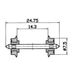 Roco 40189, Koła 7,5 mm, skala H0