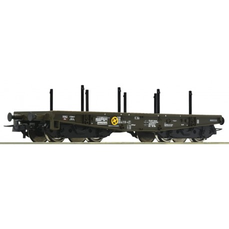"""Roco 76391, Wagon platforma typu .S """"czołgowa"""", 4-osiowa, BW, DB, ep.V, skala H0."""